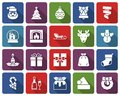 Christmas collection of rounded square icons Royalty Free Stock Photo