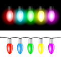 Christmas color light bulbs Royalty Free Stock Photo