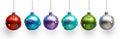 Christmas colored balls Royalty Free Stock Photo