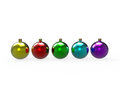 Christmas colorful baubles pack Stock Photography