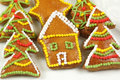 Christmas colorful gingerbread cookies Stock Photography