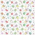 Christmas colorful seamless pattern