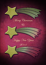 Christmas comet with best wishes for the new year Royalty Free Stock Images
