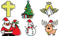 Christmas components vector Stock Photos
