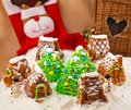 Christmas composition with cakes Royalty Free Stock Images