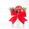 Christmas composition decorative on white background Royalty Free Stock Images