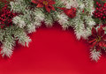 Christmas composition for greeting card with decorative ornaments Stock Image