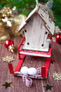 Christmas composition with a sledge Santa Claus Royalty Free Stock Photos