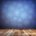 Christmas composition with wood floor eps present and decorations Royalty Free Stock Photo