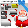 Christmas concept electronic set Stock Photo