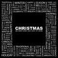 Christmas concept illustration graphic tag collection wordcloud collage Stock Photos
