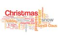 Christmas concepts word cloud illustration word collage concept Stock Photo