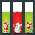 Christmas congratulation stickers Stock Photography