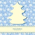 Christmas congratulations background with fir silhouette Royalty Free Stock Photo