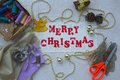 Christmas congratulations for seamstresses Royalty Free Stock Photo