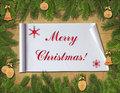 Christmas congratulatory background. Royalty Free Stock Image