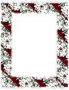 Christmas Cookie Border on White Royalty Free Stock Photo