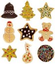 Christmas cookie collection Royalty Free Stock Image