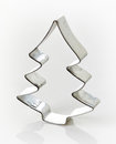 Christmas cookie cutter on white Royalty Free Stock Photo