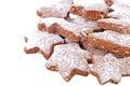 Christmas cookie on white Royalty Free Stock Photo
