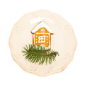 Christmas Cookie on White Royalty Free Stock Photo