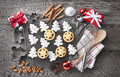 Christmas Holiday Cookies Baking Royalty Free Stock Photo