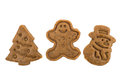 Christmas cookies and cookie cutters gingerbread dough for Stock Photography