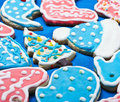 Christmas cookies covered with colored glaze Royalty Free Stock Image