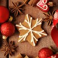 Christmas cookies decorative gingerbread background Royalty Free Stock Photos