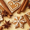 Christmas cookies decorative gingerbread background Stock Images