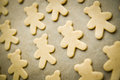 Christmas cookies dough ready for baking in the shape of bears Stock Photography