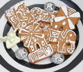Christmas cookies with honey and sugar Stock Images