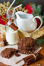 Christmas cookies and milk. Stock Images