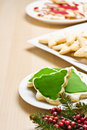 Christmas cookies on a plate Stock Photos