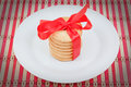Christmas cookies in a plate. Royalty Free Stock Photography