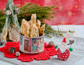 Christmas cookies with santa claus Royalty Free Stock Images
