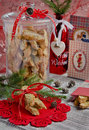 Christmas cookies with santa claus Stock Image