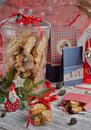 Christmas cookies with santa claus Royalty Free Stock Photography