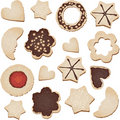 Christmas cookies seamless tile Royalty Free Stock Images