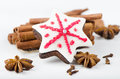 Christmas cookies and spices Stock Photos