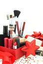 Christmas cosmetics Royalty Free Stock Photo