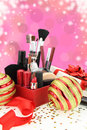 Christmas cosmetics Stock Photos