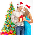 Christmas couple Royalty Free Stock Image