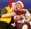 Christmas Couple Stock Photography
