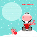 Christmas Cow Royalty Free Stock Photo