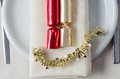 Christmas Cracker Plate Stock Images