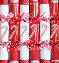 Christmas crackers background. Stock Photography