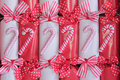 Christmas crackers background. Royalty Free Stock Photography