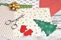 Christmas Craft Supplies Royalty Free Stock Photos