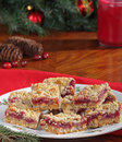 Christmas Cranberry Bars Stock Photography
